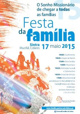 Cartaz Festa da Familia 2015