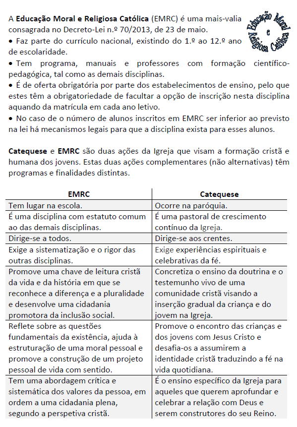EMRC Catequese